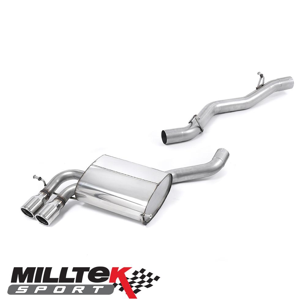 "Milltek Sport Audi S3 8P 2.0 TFSI Quattro Sportback (2007-2012) 2.75"" Cat Back Exhaust System (Non-Resonated) - SSXAU197"
