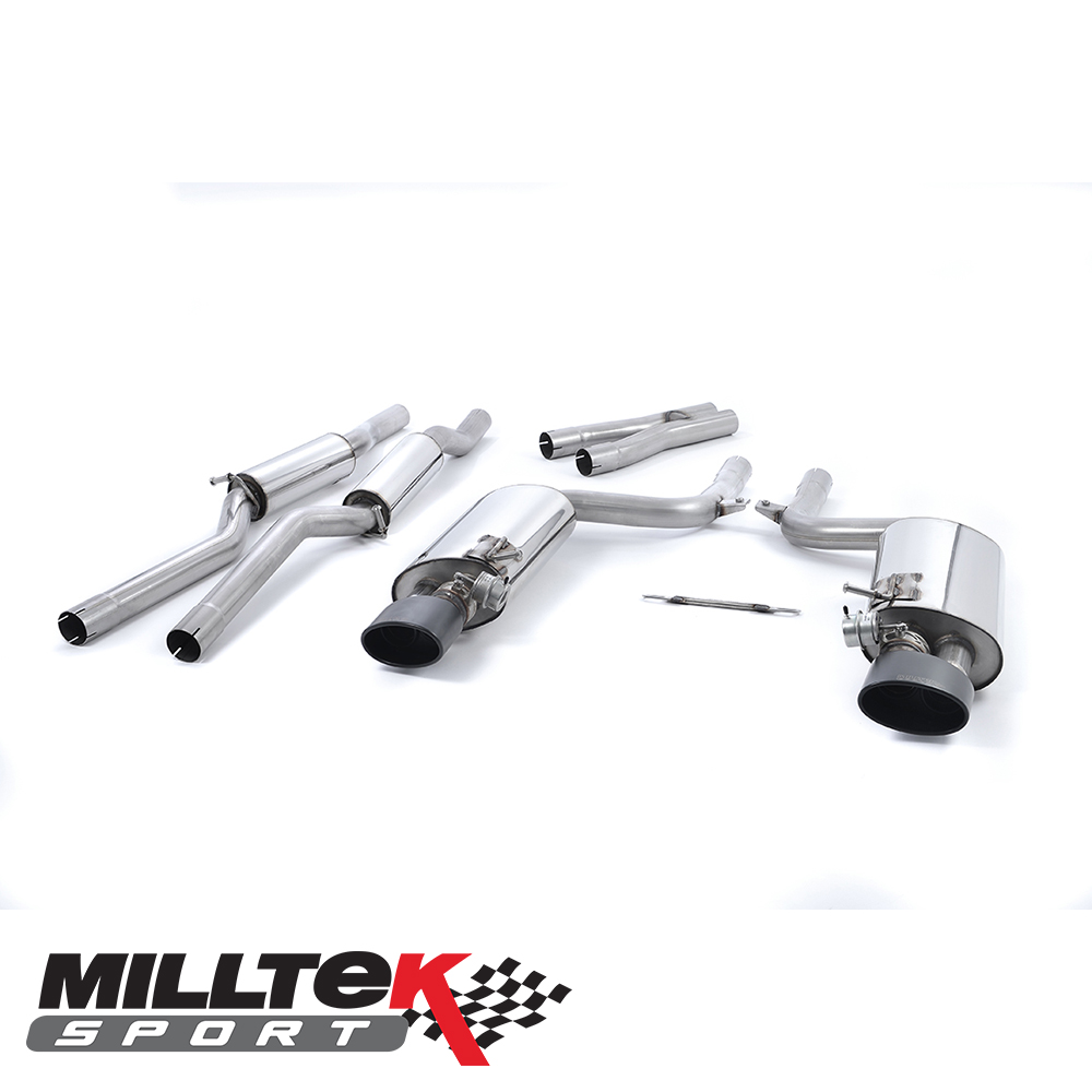 "Milltek Sport Audi RS4 B7 4.2 V8 Avant, Cabriolet & Saloon (2006-2008) 2.36"" Cat Back Exhaust System (Non-Resonated) - SSXAU221"