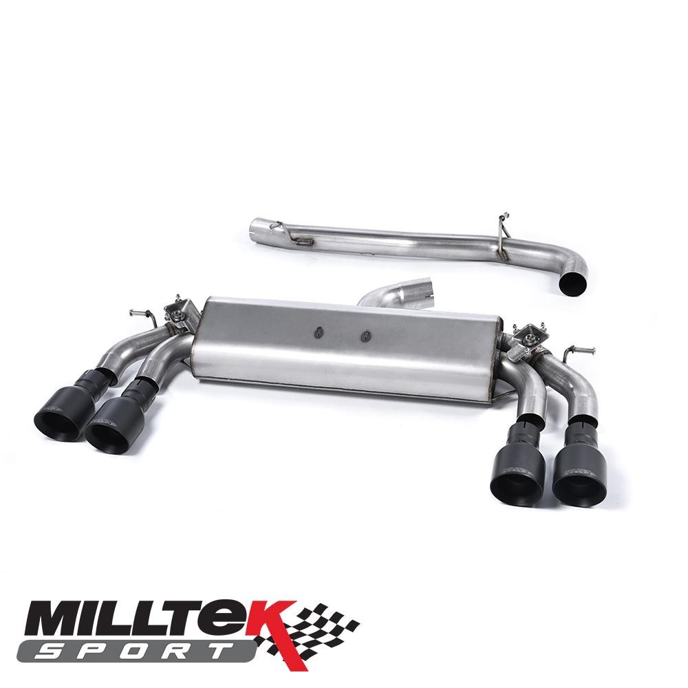 "Milltek Sport Audi S3 8V 2.0 TFSI Quattro 3 Door (2013-) 3.00"" Cat Back Exhaust System (Non-Resonated) - SSXAU392"