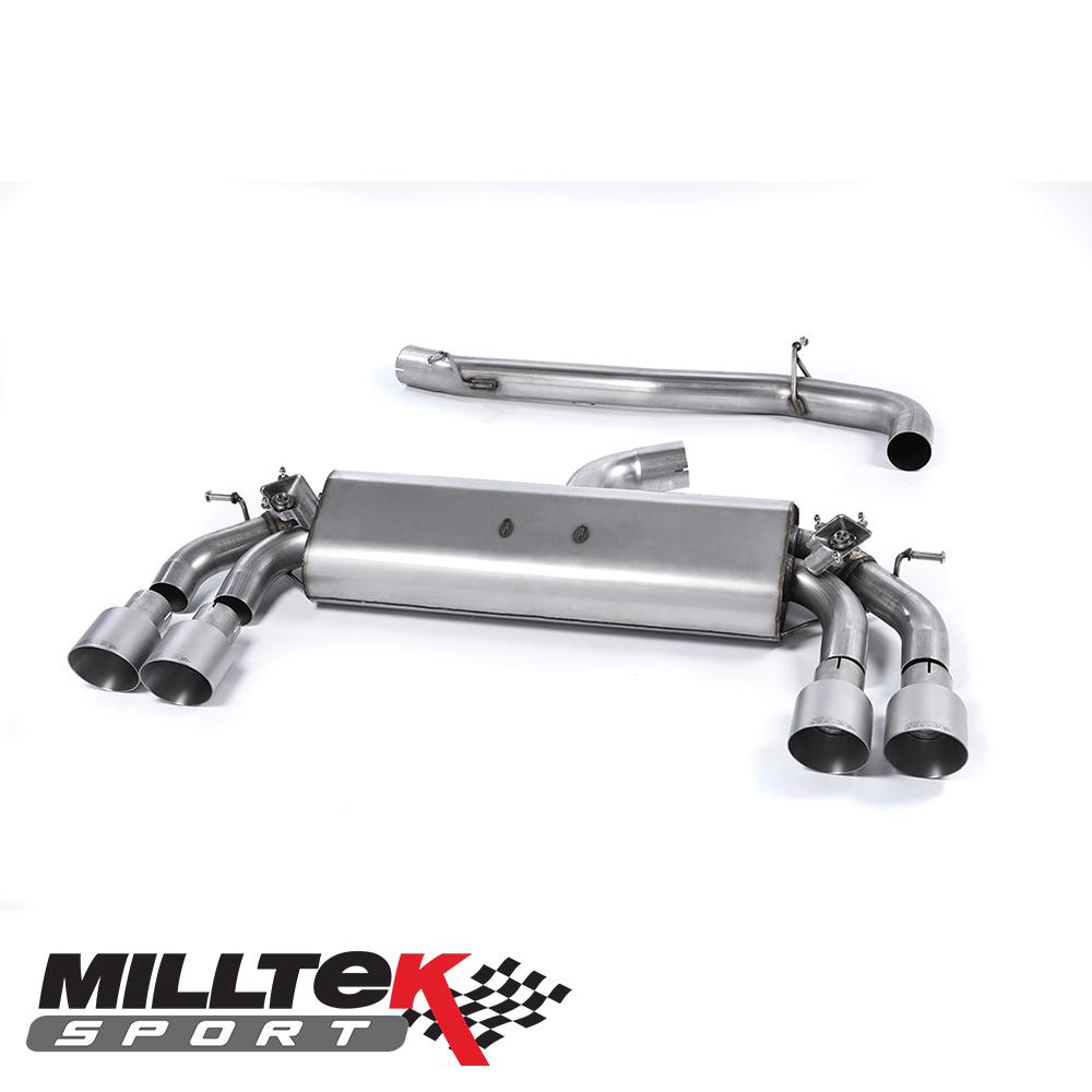 "Milltek Sport Audi S3 8V 2.0 TFSI Quattro 3 Door (2013-) 3.00"" Cat Back Exhaust System (Non-Resonated) - SSXAU394"
