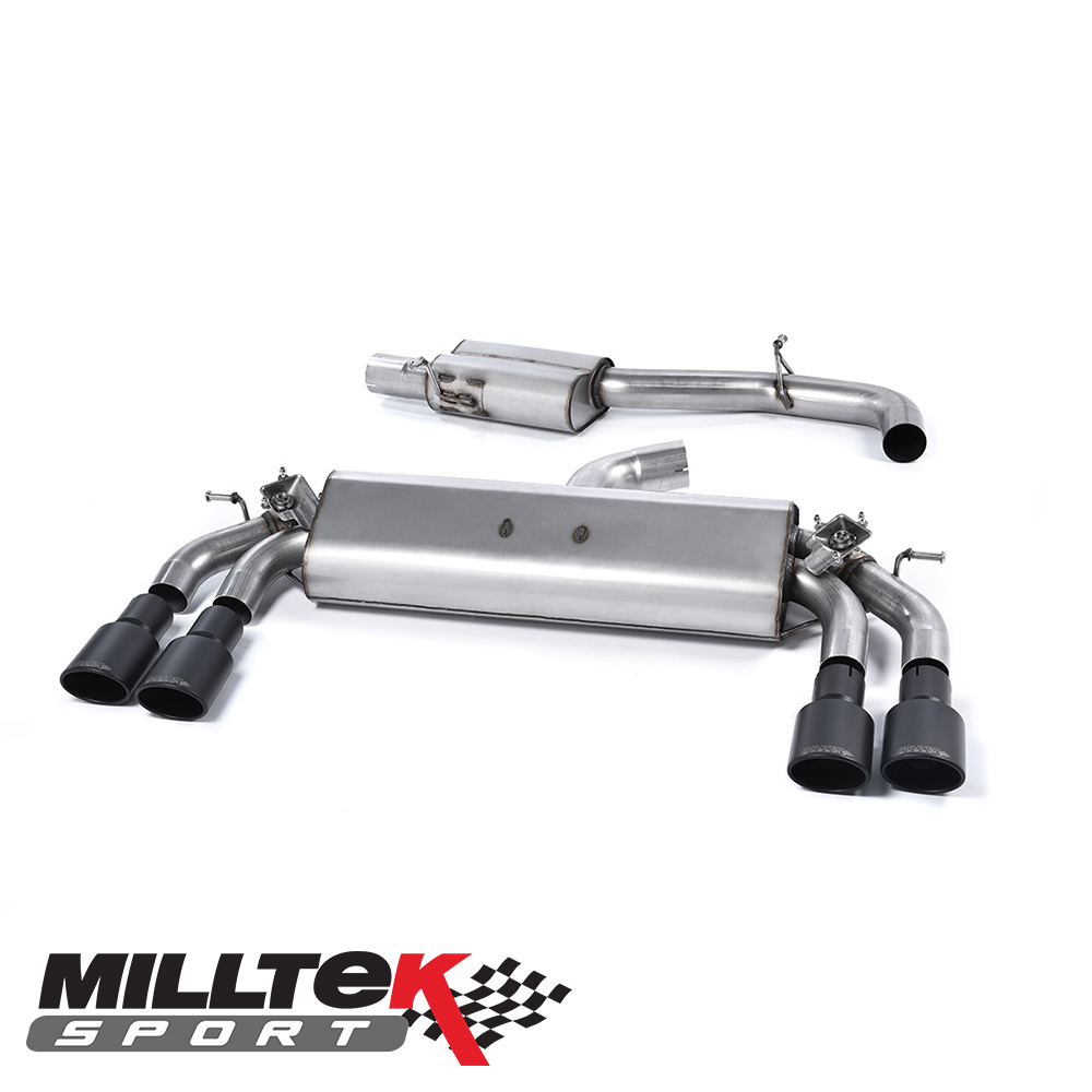 "Milltek Sport Audi S3 8V 2.0 TFSI Quattro 3 Door (2013-) 3.00"" Cat Back Exhaust System (Resonated) - SSXAU401"