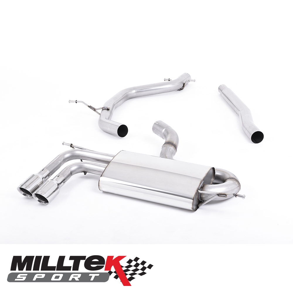 """Milltek Sport Audi A3 8P 1.8 TSI 2WD (2008-2012) 2.75"""" Cat Back Exhaust System (Non-Resonated) - SSXVW149"""