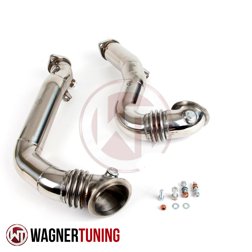 Wagner Tuning BMW E82-E93 N54 Catless Downpipe Kit - 500001002