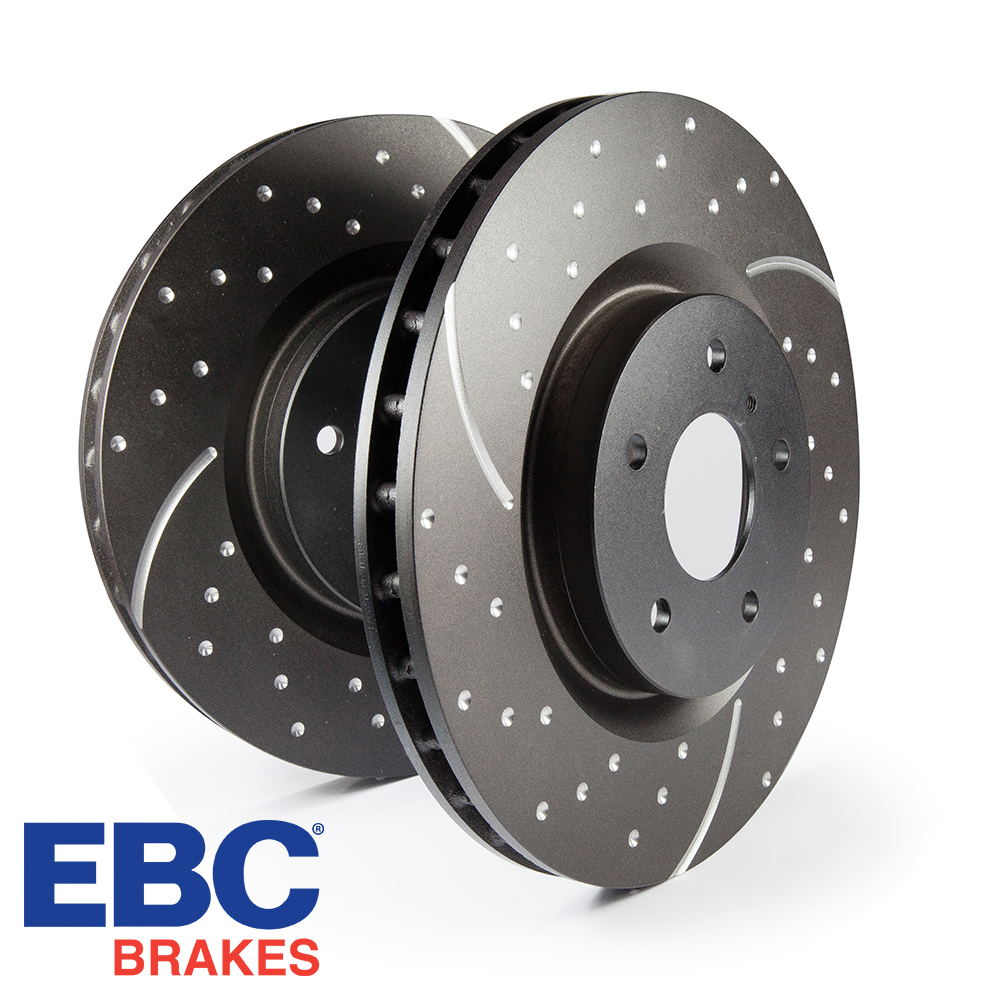 EBC Brakes Audi A1 8X 1.0 TFSI 95 BHP (2015-) 3GD Series Dimpled & Slotted Brake Discs (Front) - ATE Caliper - 288mm Disc - GD818