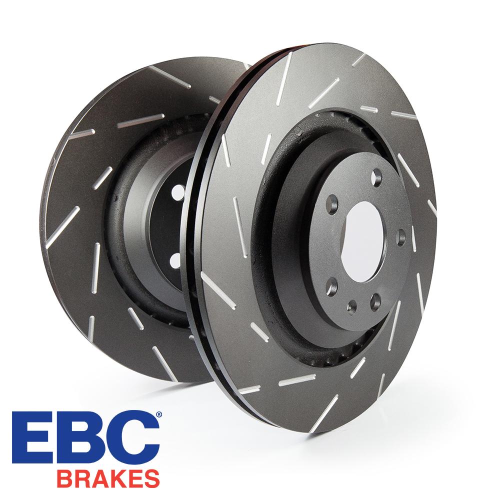 EBC Brakes Audi A1 8X 1.0 TFSI 95 BHP (2015-) USR Series Fine Slotted Brake Discs (Front) - VW Caliper - 256mm Disc - USR817