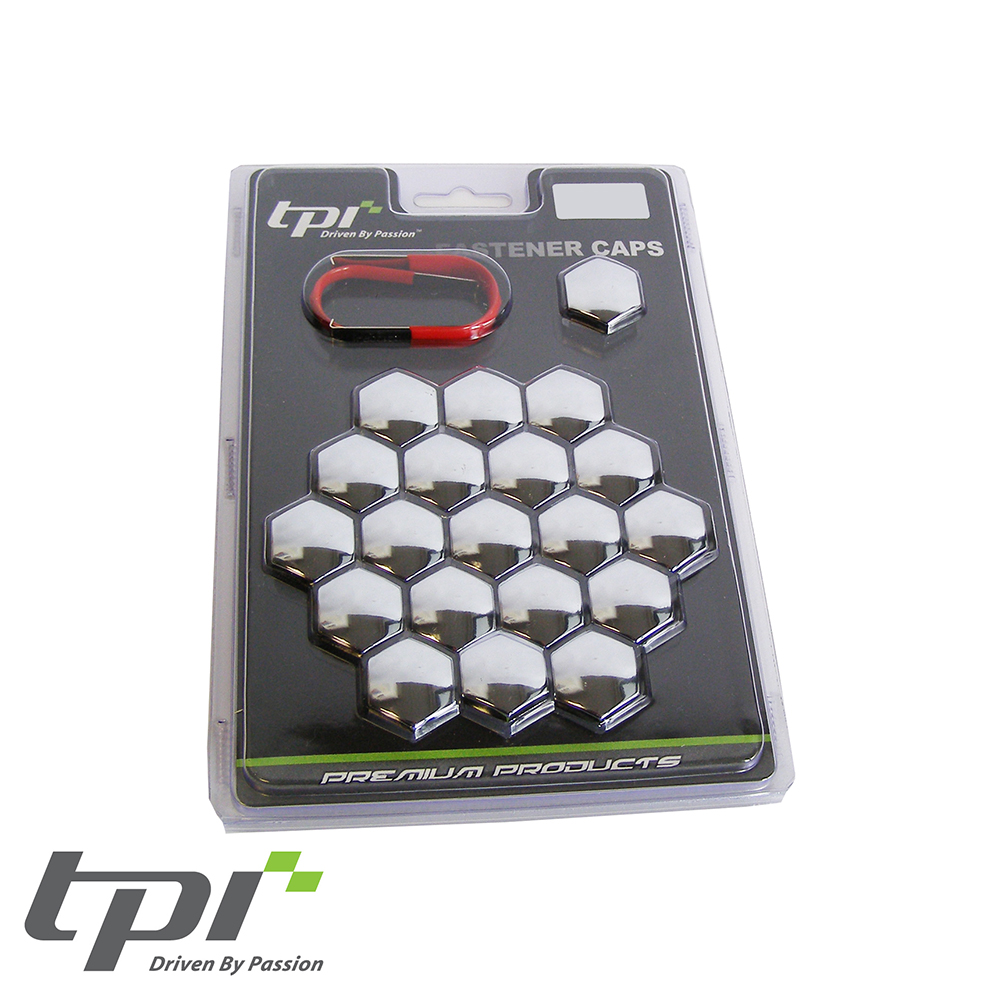 TPI Wheel Bolt/Nut Covers - Chrome - 22mm - WNC22CHRTX20