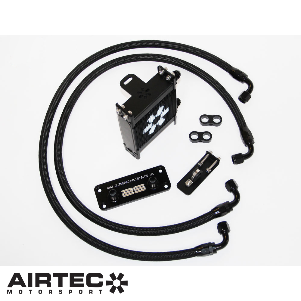Airtec Motorsport Ford Focus MK2 RS 2.5 Turbo (2009-2010) Lower Grill Mounted Remote Oil Cooler Kit - ATOILFO3