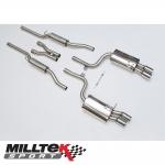 "Milltek Sport Audi S4 B7 4.2 V8 Quattro Avant, Cabriolet & Saloon (2004-2009) 2.25"" Cat Back Exhaust System (Resonated) - SSXAU046"