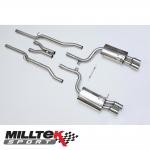 "Milltek Sport Audi S4 B7 4.2 V8 Quattro Avant, Cabriolet & Saloon (2004-2009) 2.25"" Cat Back Exhaust System (Non-Resonated) - SSXAU048"