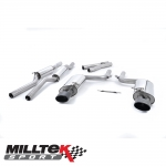 "Milltek Sport Audi RS4 B7 4.2 V8 Avant, Cabriolet & Saloon (2006-2008) 2.36"" Cat Back Exhaust System (Resonated) - SSXAU060BLK"
