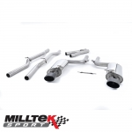 "Milltek Sport Audi RS4 B7 4.2 V8 Avant, Cabriolet & Saloon (2006-2008) 2.36"" Cat Back Exhaust System (Non-Resonated) - SSXAU062BLK"