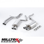 "Milltek Sport Audi S5 B8 4.2 V8 Quattro Coupe (2007-2011) 2.36"" Cat Back Exhaust System (Non-Resonated) - SSXAU191"