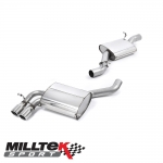 "Milltek Sport Audi S3 8P 2.0 TFSI Quattro Sportback (2007-2012) 2.75"" Cat Back Exhaust System (Resonated) - SSXAU198"