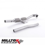 "Milltek Sport Skoda Octavia 1Z vRS 2.0 TSI (2010-2013) 3.00"" Large Bore Downpipe With HJS HQ Sports Cat - SSXAU200"