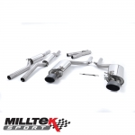 "Milltek Sport Audi RS4 B7 4.2 V8 Avant, Cabriolet & Saloon (2006-2008) 2.36"" Cat Back Exhaust System (Resonated) - SSXAU061"