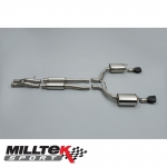"Milltek Sport Audi RS6 C6 5.0 V10 Bi-Turbo Quattro (2008-2010) 2.75"" Cat Back Exhaust System (Resonated) - SSXAU228"