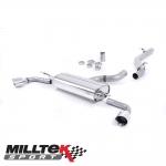 "Milltek Sport Audi TT 8J 3.2 V6 Quattro (2006-2010) 2.75"" Cat Back Exhaust System (Non-Resonated) - SSXAU257"