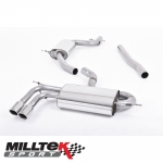 "Milltek Sport Audi A3 8P 1.8 TSI 2WD (2008-2012) 2.75"" Cat Back Exhaust System (Resonated) - SSXAU259"