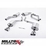 "Milltek Sport Audi S4 B8 3.0 V6 Supercharged (2009-2012) 2.37"" Cat Back Exhaust System (Resonated) - SSXAU261"