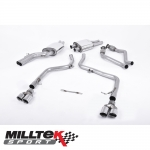 "Milltek Sport Audi S5 B8 3.0 TFSI Quattro S Tronic Cabriolet & Coupe (2009-2011) 2.37"" Cat Back Exhaust System (Non-Resonated) - SSXAU265"