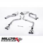 "Milltek Sport Audi S4 B8 3.0 V6 Supercharged (2009-2012) 2.37"" Cat Back Exhaust System (Non-Resonated) - SSXAU268"