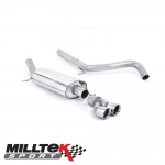 "Milltek Sport Audi A1 8X S Line 1.4 TFSI 122PS (2012-2015) 2.50"" Cat Back Exhaust System (Non-Resonated) - SSXAU283"