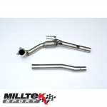 "Milltek Sport Skoda Octavia 1Z vRS 2.0 TSI (2010-2013) 3.00"" Large Bore Downpipe With De-Cat - SSXAU284"