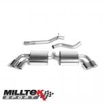 "Milltek Sport Audi TTS 8J 2.0 TFSI Quattro (2008-2014) 2.75"" Cat Back Exhaust System (Non-Resonated) - SSXAU292"