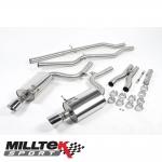 "Milltek Sport Audi S4 B6 4.2 V8 Quattro Avant, Cabriolet & Saloon (2003-2005) 2.25"" Cat Back Exhaust System (Non-Resonated) - SSXAU295"