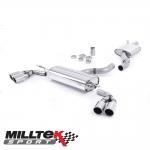 "Milltek Sport Audi TT 8J 3.2 V6 Quattro (2006-2010) 2.75"" Cat Back Exhaust System (Resonated) - SSXAU300"