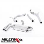 """Milltek Sport Audi A3 8P 2.0 TDI 140 BHP 2WD 3 Door Non-DPF (2004-2012) 2.75"""" Turbo Back Exhaust System - SSXAU327"""