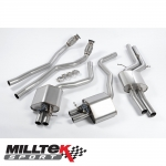 "Milltek Sport Audi RS6 C7 4.0 TFSI Bi-Turbo Quattro (2013-) 2.75"" Valvesonic Cat Back Exhaust System (Resonated) - SSXAU364"