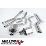"Milltek Sport Audi RS6 C7 4.0 TFSI Bi-Turbo Quattro (2013-) 2.75"" Valvesonic Cat Back Exhaust System (Non-Resonated) - SSXAU365"