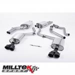 "Milltek Sport Audi S4 B8.5 3.0 V6 Supercharged (2012-) 2.37"" Cat Back Exhaust System (Resonated) - SSXAU366"