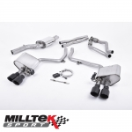 "Milltek Sport Audi S4 B8.5 3.0 V6 Supercharged (2012-) 2.37"" ValveSonic Cat Back Exhaust System - SSXAU406"