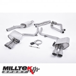 "Milltek Sport Audi S4 B8.5 3.0 V6 Supercharged (2012-) 2.37"" ValveSonic Cat Back Exhaust System - SSXAU408"