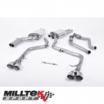 """Milltek Sport Audi S5 B8.5 3.0 TFSI Cabriolet & Coupe (2011-) 2.37"""" Cat Back Exhaust System (Non-Resonated) - SSXAU409"""
