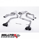 """Milltek Sport Audi S5 B8.5 3.0 TFSI Cabriolet & Coupe (2011-) 2.37"""" Cat Back Exhaust System (Non-Resonated) - SSXAU411"""