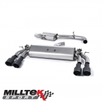 """Milltek Sport Audi S3 8V 2.0 TFSI Quattro Sportback (2013-) 3.00"""" Cat Back Exhaust System (Resonated) - SSXAU420"""