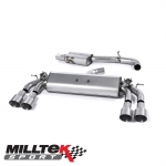"Milltek Sport Audi S3 8V 2.0 TFSI Quattro Sportback (2013-) 3.00"" Cat Back Exhaust System (Resonated) - SSXAU422"