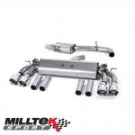 "Milltek Sport Audi S3 8V 2.0 TFSI Quattro Saloon (2013-) 3.00"" Cat Back Exhaust System (Non-Resonated) - SSXAU471"