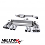 "Milltek Sport Audi S3 8V 2.0 TFSI Quattro Saloon (2013-) 3.00"" Cat Back Exhaust System (Non-Resonated) - SSXAU472"