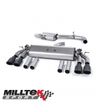 "Milltek Sport Audi S3 8V 2.0 TFSI Quattro Saloon (2013-) 3.00"" Cat Back Exhaust System (Resonated) - SSXAU479"