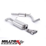 "Milltek Sport Audi A1 8X S Line 1.4 TFSI 185PS S Tronic (2010-2015) 2.76"" Cat Back Exhaust System (Resonated) - SSXAU519"