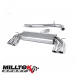 "Milltek Sport Audi S3 8V 2.0 TFSI Quattro 3 Door (2013-) 3.00"" Non-Valved Cat Back Exhaust System (Non-Resonated) - SSXAU521"