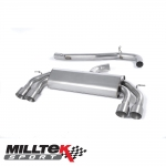 "Milltek Sport Audi S3 8V 2.0 TFSI Quattro 3 Door (2013-) 3.00"" Non-Valved Cat Back Exhaust System (Non-Resonated) - SSXAU524"
