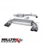 "Milltek Sport Audi S3 8V 2.0 TFSI Quattro 3 Door (2013-) 3.00"" Non-Valved Cat Back Exhaust System (Resonated) - SSXAU525"