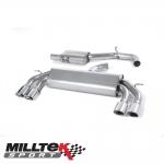 "Milltek Sport Audi S3 8V 2.0 TFSI Quattro 3 Door (2013-) 3.00"" Non-Valved Cat Back Exhaust System (Resonated) - SSXAU526"