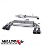 "Milltek Sport Audi S3 8V 2.0 TFSI Quattro Sportback (2013-) 3.00"" Non-Valved Cat Back Exhaust System (Resonated) - SSXAU536"