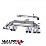 "Milltek Sport Audi S3 8V 2.0 TFSI Quattro Saloon (2013-) 3.00"" Non-Valved Cat Back Exhaust System (Non-Resonated) - SSXAU540"